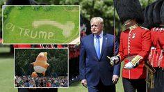 ชาวอังกฤษสุดแสบ ลงทุนตัดหญ้าเป็นรูปกระปู๋ยักษ์เพื่อต้อนรับ Donald Trump