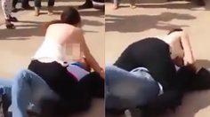 โอ้ววว! สาวโรคจิตจับหนุ่มผู้โชคร้ายกดลงกับพื้นแล้วถอดเสื้อ เอานมหนีบหน้า