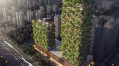 Nanjing Towers ป่าแนวตั้งแห่งแรกของเอเชีย รวมพืชกว่า 3,000 ชนิด ผลิตออกซิเจนกว่า 60 กก. ต่อวัน!