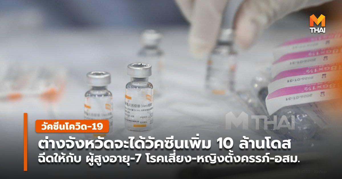 ต่างจังหวัดจะได้วัคซีนเพิ่ม 10 ล้านโดส สำหรับฉีดกลุ่มเสี่ยง