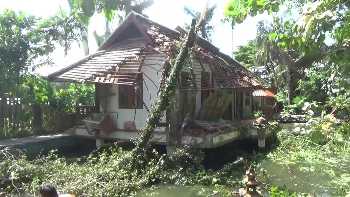พายุซัดต้นไม้โค่นทับบ้าน นีโน่ พิธีกรดัง เสียหายนับล้าน