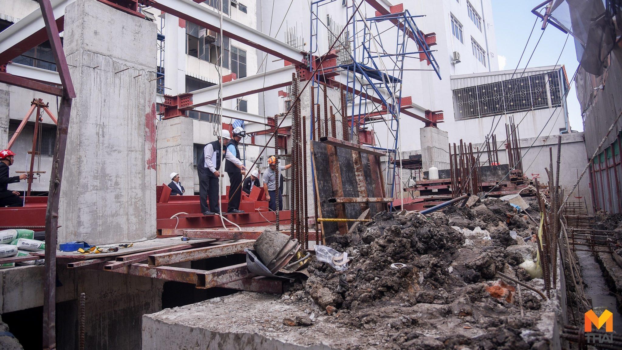 วสท. เข้าตรวจไซด์งานก่อสร้าง หลังเครนชักรอกทับคนงานเจ็บ 3 ราย