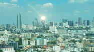 ดวงตาเซาลอนโผล่กลางกรุง ตึก SME Bankสะท้อนแสงอาทิตย์จนทำคนแสบตา
