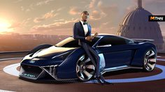 Audi RSQ e-tron คอนเซ็ปต์คาร์สุดล้ำหลุดเข้าไปในโลก ภาพยนตร์อนิเมชั่น