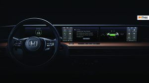 เผยภาพแผง Dashboard Design จอกว้าง ของรถ EV ตัวต้นแบบของ Honda