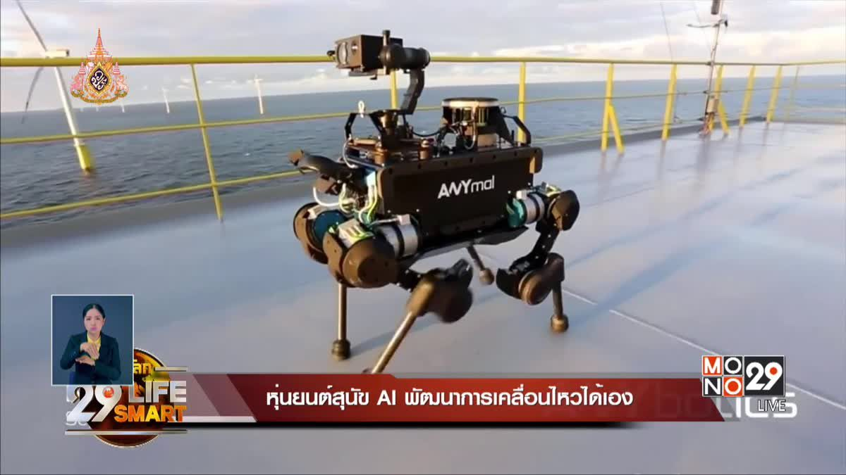 29 LifeSmart : หุ่นยนต์สุนัขAi พัฒนาการเคลื่อนไหวได้เอง