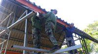 ทหาร เร่ง ซ่อม สร้างบ้าน ให้ผู้ประสบภัยพายุ ปาบึก