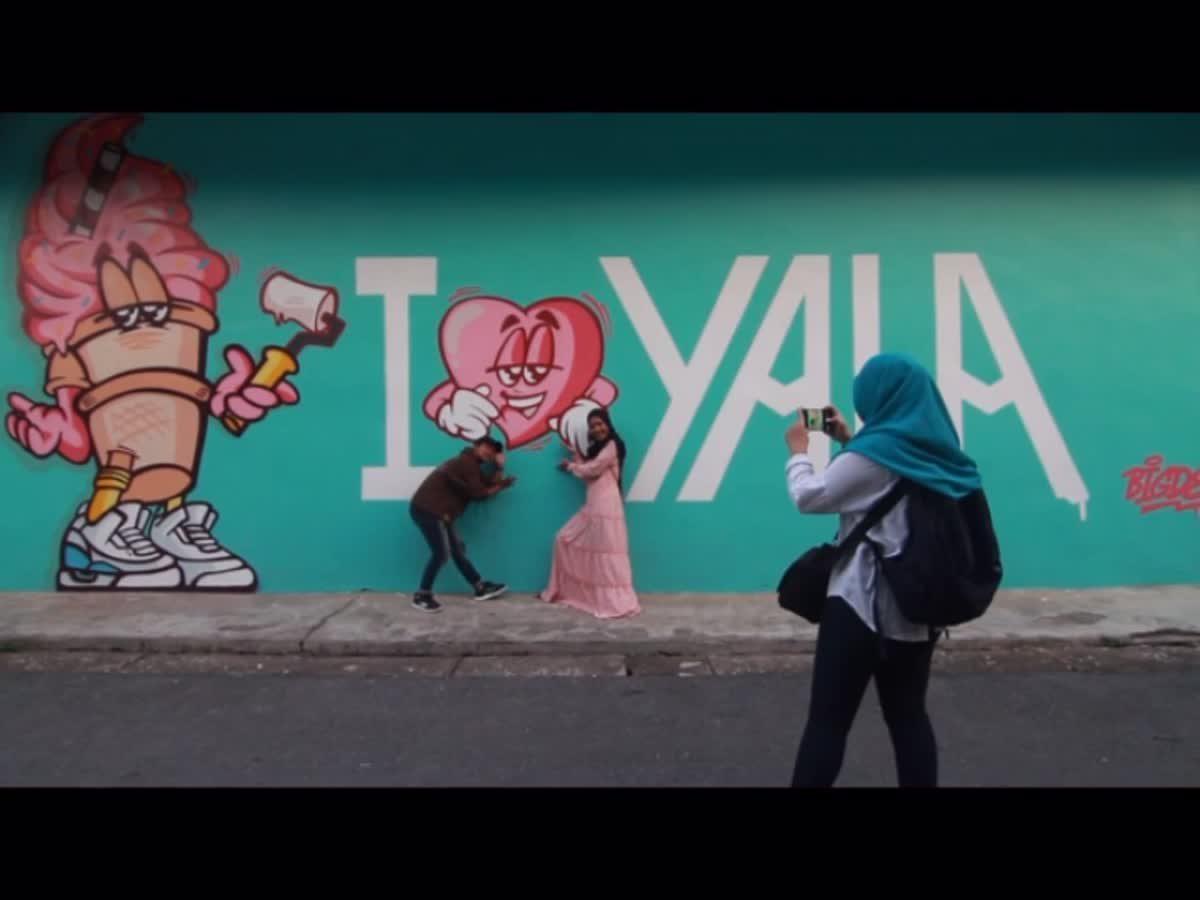 ถนนศิลปะปลายด้ามขวาน Yala bird city street art