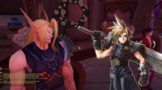 เมื่อ Cloud กับ Aerith จาก FF VII ไปโผล่ในWorld of Warcraft