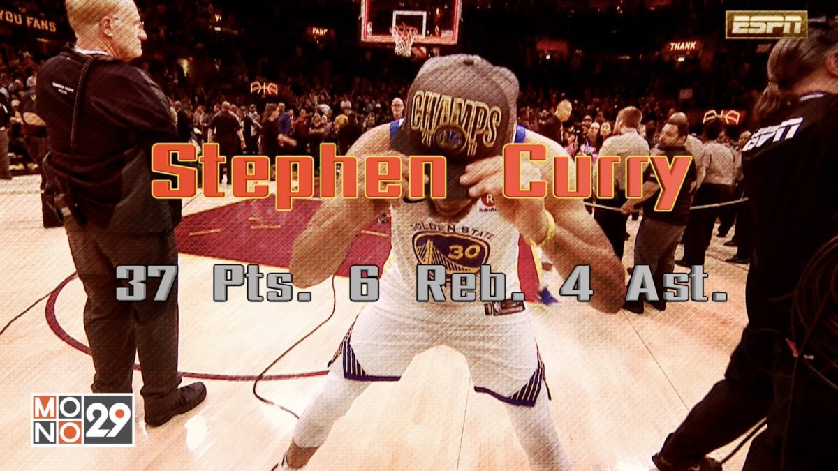 Stephen Curry  37 Pts. 6 Reb. 4 Ast.
