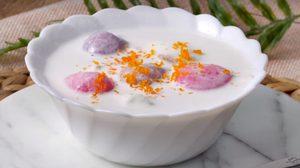 สูตร บัวลอยไส้ไข่เค็มลาวา ครบรสชาติหวานมันเค็ม