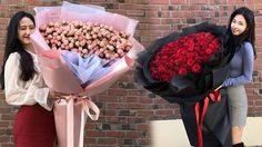 เทรนด์ฮิตเกาหลี ช่อดอกไม้ยักษ์ ไอเดียของขวัญวาเลนไทน์จากโอปป้า
