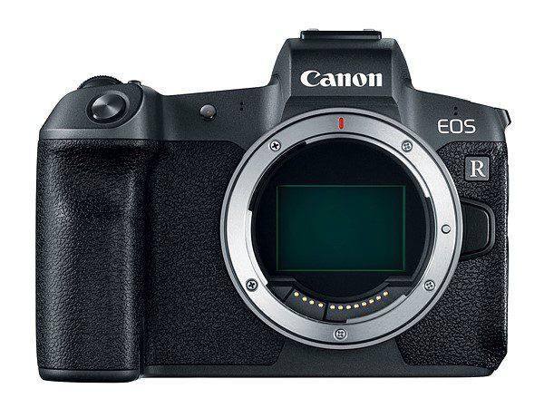 Canon EOS R ด้านหน้า