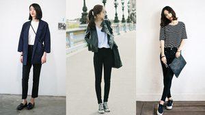 25 วิธี แต่งตัวด้วยแฟชั่นสี ขาว-เทา-ดำ-เนวี่ ใส่แล้วสวย ดูดีได้ทุกโอกาส