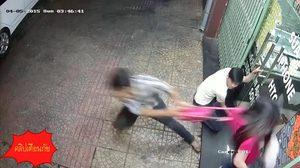 ระวัง!! โจรอาศัยจังหวะ ขณะเปิดประตูเข้าบ้าน กระชากกระเป๋าหลบหนี
