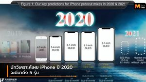 นักวิเคราะห์เผย ปี 2020 จะมี iPhone เปิดตัวถึง 5 รุ่น