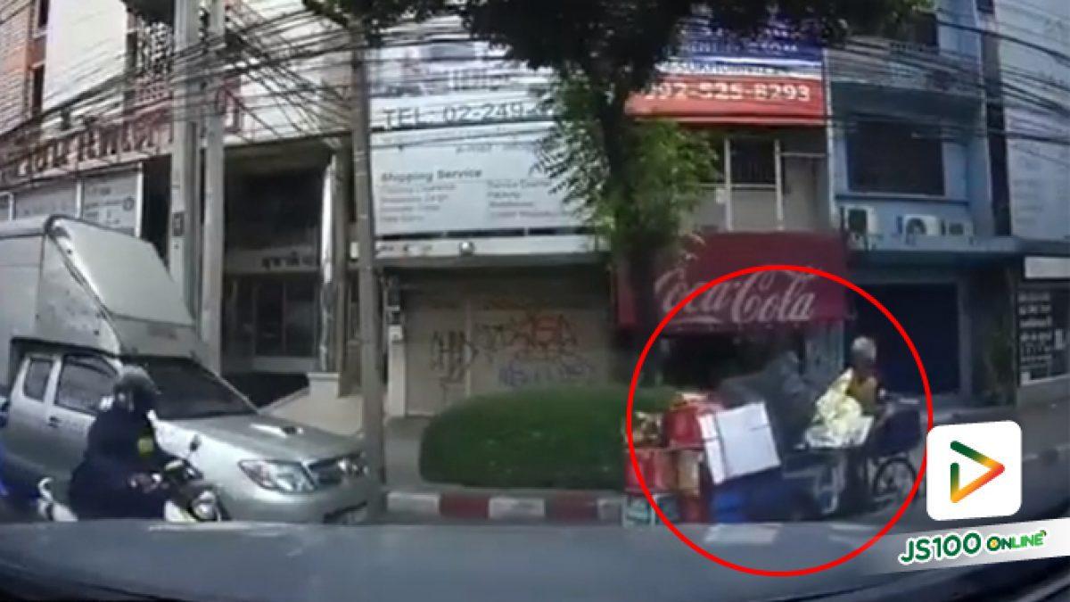 คลิปคุณลุงซาเล้งขับรถย้อนศรออกทางแยก (05-05-62)