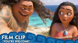 """You're Welcome! """"เดอะร็อค"""" ร้องเพลงให้รอยสักเล่าเรื่องในคลิปล่าสุดจาก Moana"""