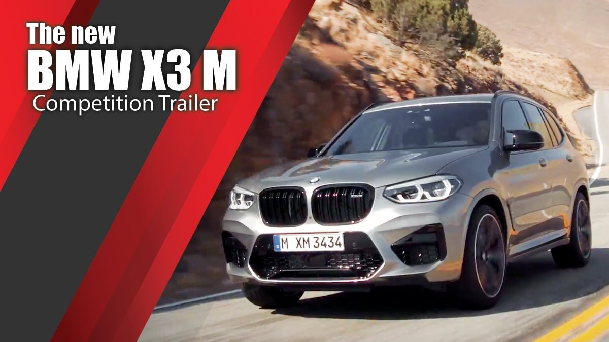 The new BMW X3 M Competition Trailer