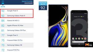 DXOMARK จัดอันดับกล้องหน้าสมาร์ทโฟนครั้งแรก Pixel 3 และ Galaxy Note9 ครองแชมป์ร่วม!!