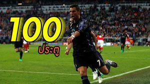 สถิติใหม่! โรนัลโด้ ขึ้นแท่นแข้งแรกทำครบ 100 ประตูในฟุตบอลสโมสรยุโรป