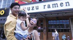 สาจ๋า! บี้ พาลูก-เมีย สวีทก่อนบินทำงานจีน บุกสยามต่อคิวโซ้ยราเมนดัง Yuzu Ramen