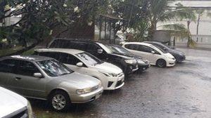 ฝนถล่มกรุงลาดพร้าว ,รัชดารถหนึบ – อุตุฯเตือนพายุฤดูร้อน