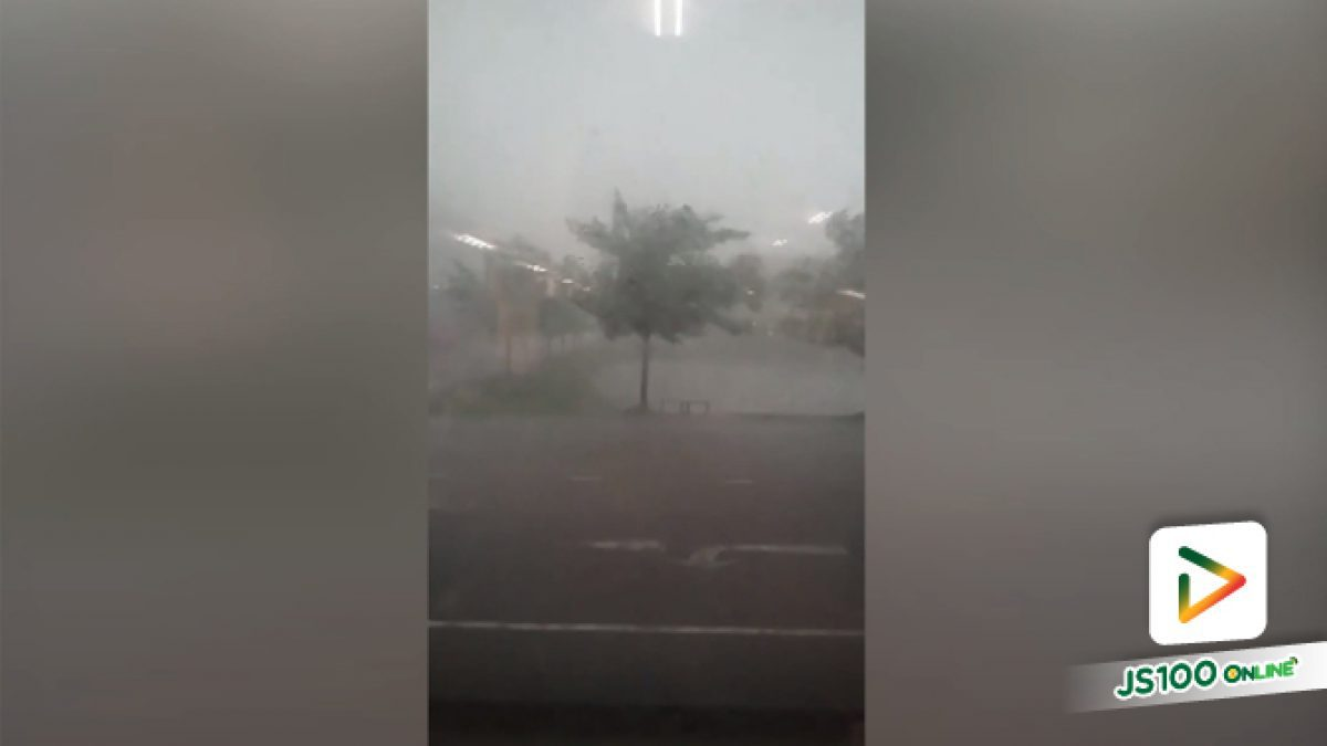 คลิปอยุธยาบริเวณนิคมไฮเทค บางปะอิน ฝนตกหนัก (17-05-61)