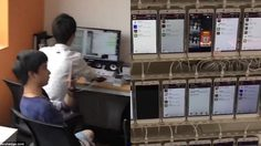 อยากดัง…เราจัดให้!! รับจ้างกดไลค์ กดแชร์ ในประเทศจีน ด้วยโทรศัพท์กว่าหมื่นเครื่อง