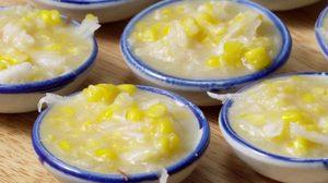 สูตร ขนมข้าวโพดหวาน ขนมหวานบนถ้วยตะไล