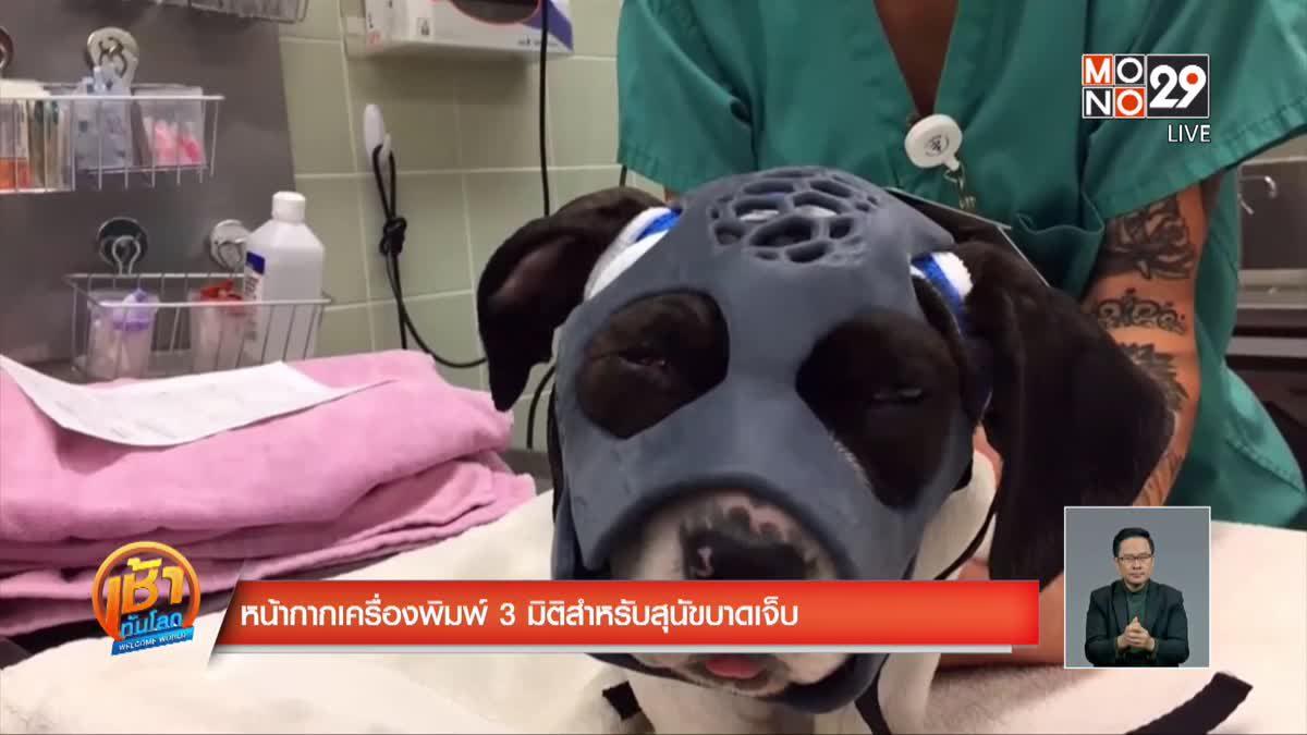 หน้ากากเครื่องพิมพ์ 3 มิติสำหรับสุนัขบาดเจ็บ