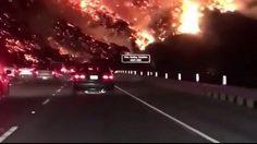 สะพรึงยิ่งกว่าฉากในหนัง เพลิงมฤตยูแคลิฟอร์เนีย ผลาญภูเขาจมทะเลเพลิง