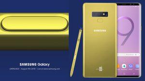 สื่อต่างประเทศ เผยภาพเรนเดอร์ Galaxy Note 9 สีเหลืองทองตามปากกา S Pen