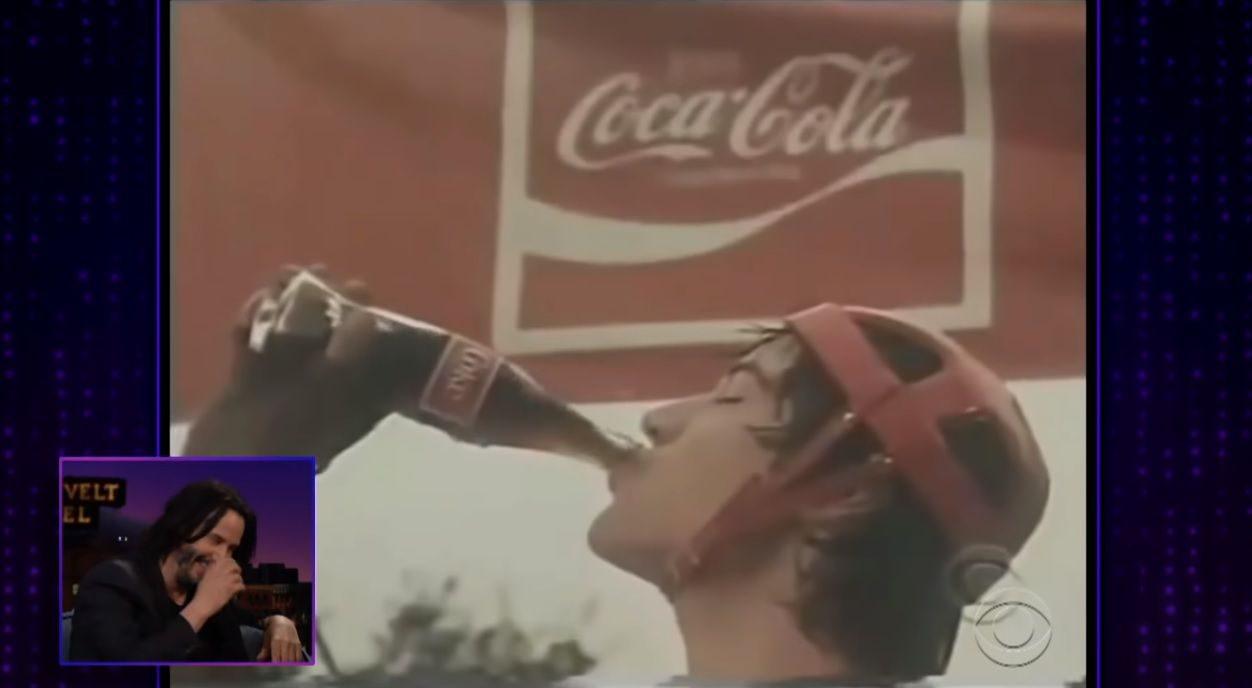 คีอานู รีฟ ใน โฆษณา Coca-Cola ปี 1983