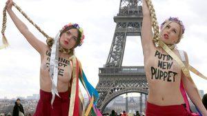 เปลือยอก ประท้วง Topless Ukrainian