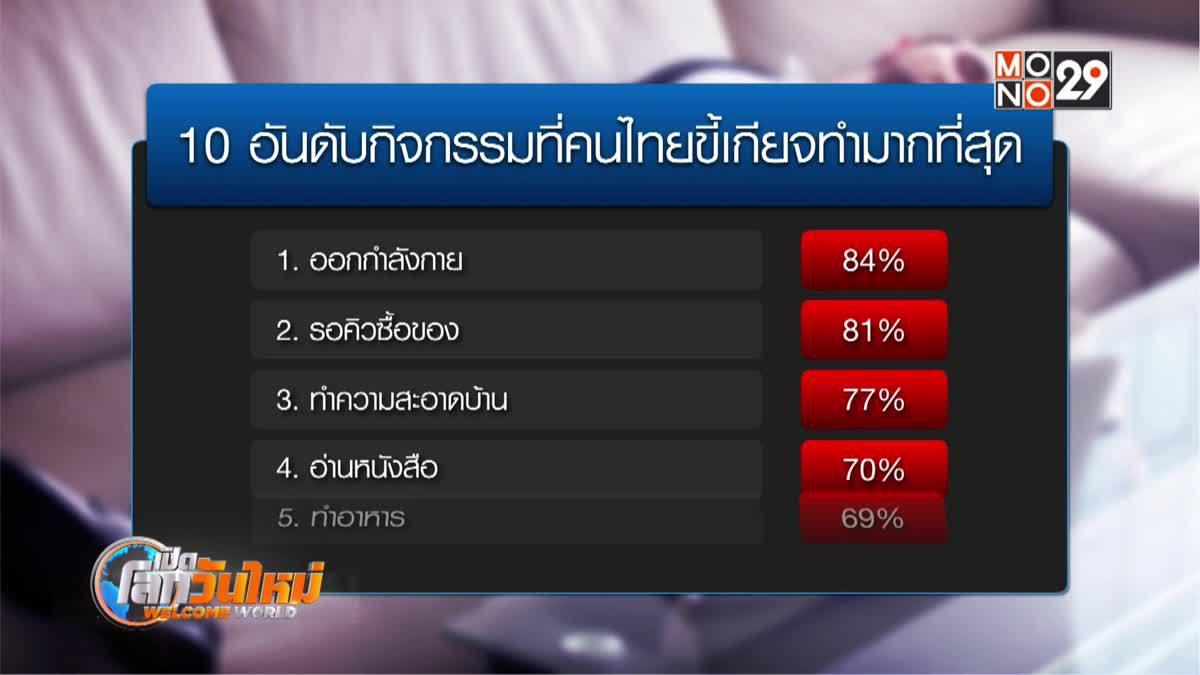 10 อันดับกิจกรรมที่คนไทยขี้เกียจทำมากที่สุด