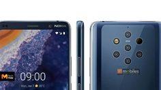 เผยภาพเรนเดอร์ทางการของ Nokia 9 กับกล้องหลัง 5 ตัว