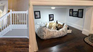 รีวิวแต่งห้องใต้บันไดให้เป็น บ้านหมา D.I.Y. สวยแถมประหยัดพื้นที่