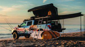 Nissan Titan Surfcamp กระบะสำหรับชาว Surf แคมป์ปิ้งริมหาด