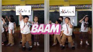 มาอีกคลิปแล้ว! เด็กอนุบาลฟิลิปปินส์ เต้นสะบัดเพลง BAAM