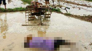ภาพสุดเศร้า! ชายวัย 57 นอนจมน้ำเสียชีวิตขณะไถนา