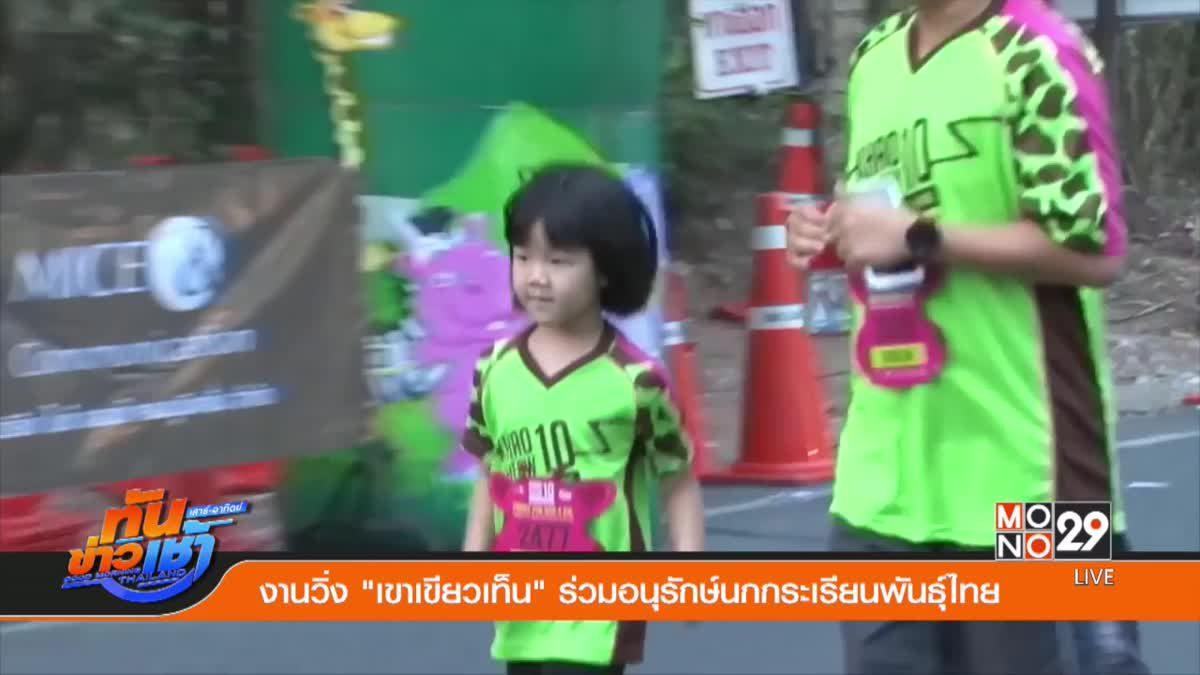 """งานวิ่ง """"เขาเขียวเท็น"""" ร่วมอนุรักษ์นกกระเรียนพันธุ์ไทย"""
