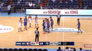 คว้าชัยเกมแรก! ยัดห่วงทีมชาติไทยชุดเล็ก ทุบ อินโดนีเซีย 79-69 ศึกชิงแชมป์บาสอาเซียน ยู-16