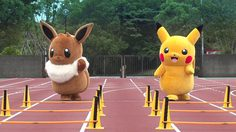 Pikachu VS Eevee ใครเก่งกว่ากัน การแข่งขันของ 2 โปเกมอนสุดน่ารักได้เริ่มขึ้นแล้ว!