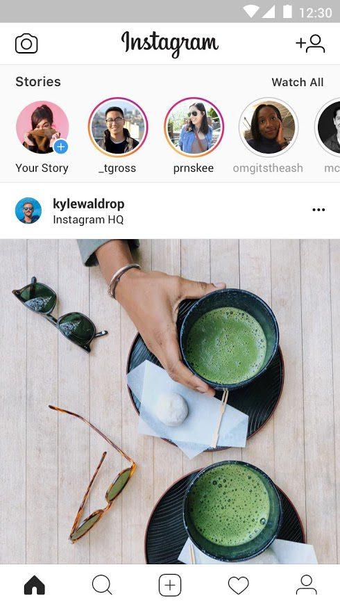 หน้าฟีด Instagram Lite