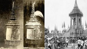 พระชฎาห้ายอด เครื่องราชศิราภรณ์ ที่ใช้ปฏิบัติเฉพาะ พระบรมศพพระมหากษัตริย์ เท่านั้น
