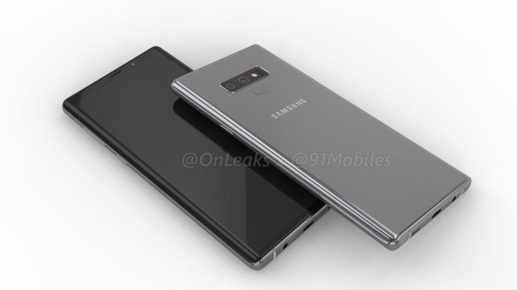 ภาพเรนเดอร์ Galaxy Note 9