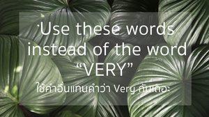 คำศัพท์ภาษาอังกฤษอะไรบ้าง ที่ใช้แทน very ได้