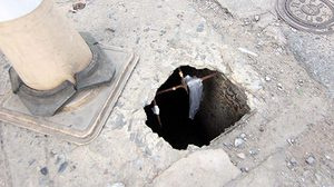 ชาวบ้านจี้ซ่อมด่วน หลุมยุบโผล่ถนนพัทยา ทำคนเจ็บแล้วหลายราย