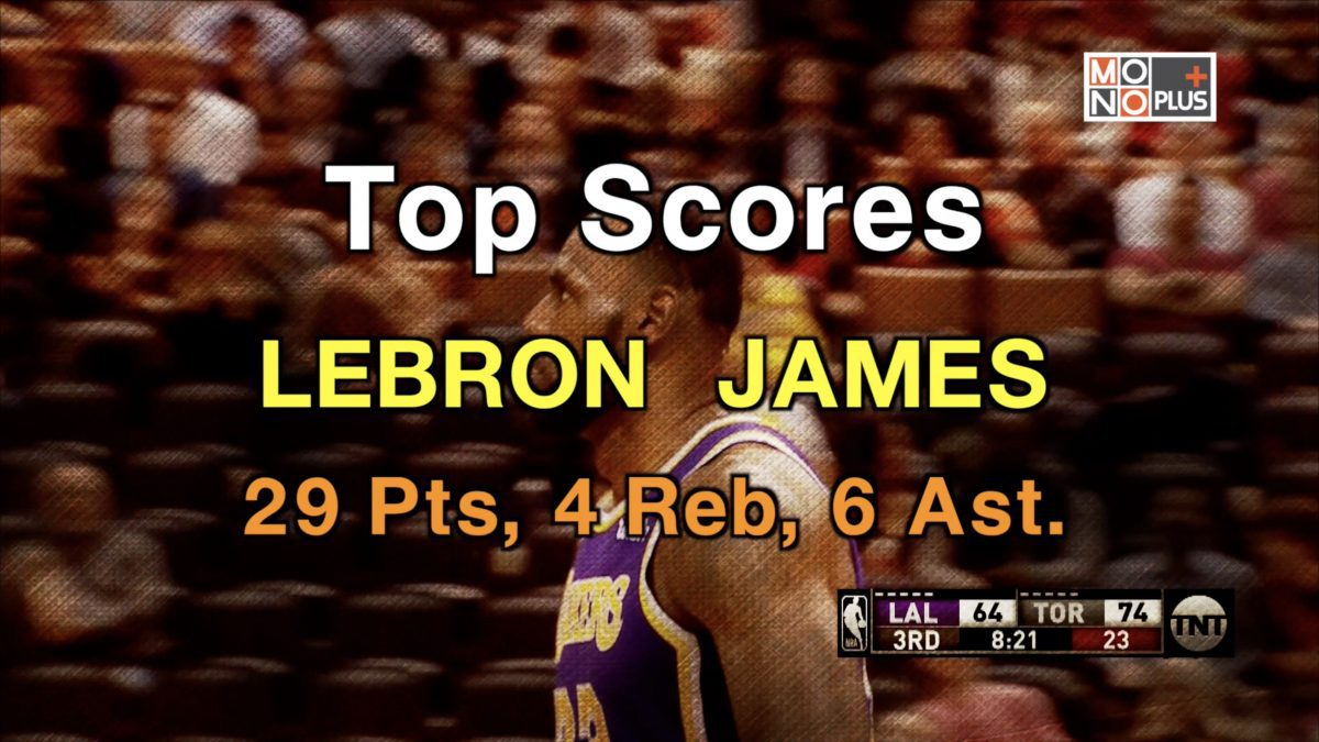 Top SCORE LEBRON JAMES 29 PTS 4 REB 6 AST